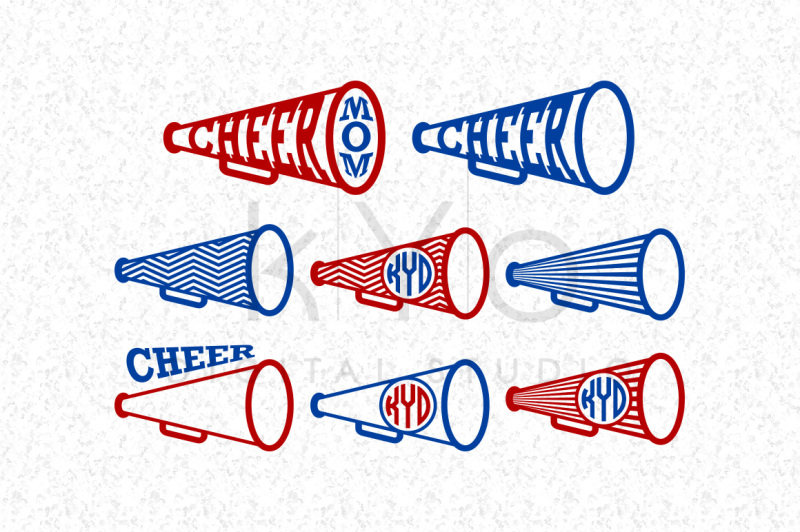 Free Cheer Svg Files Cheer Megaphone Svg Files For Cricut Explore And Dxf Files For Silhouette Cameo Circle Monogram Frame Svg Files Cricut Files Svg Free Download Svg Files French