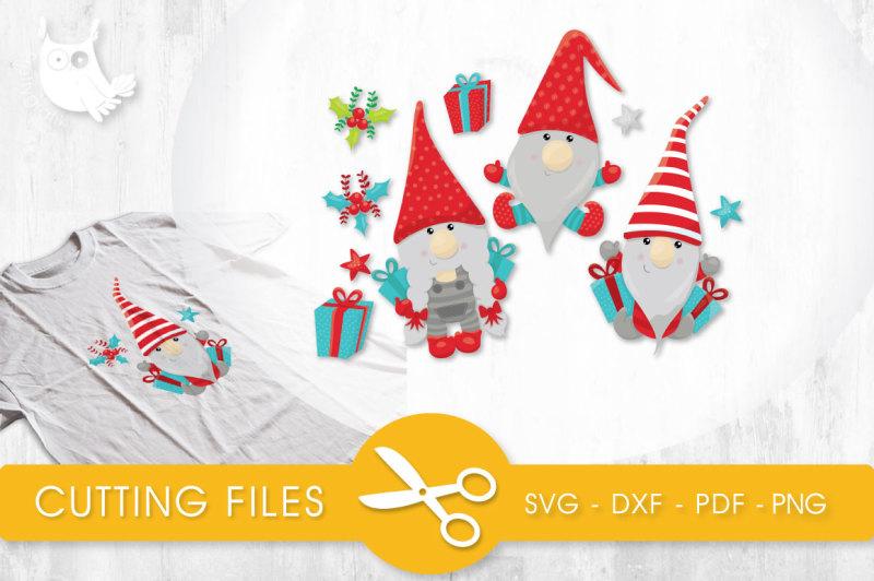 Christmas Gnomes Svg.Free Present Christmas Gnomes Svg Png Eps Dxf Cut File