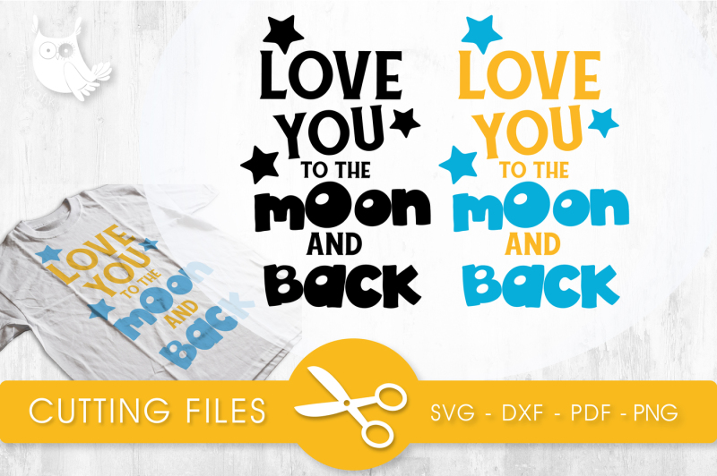 Free Love you to the moon and back SVG, PNG, EPS, DXF, cut