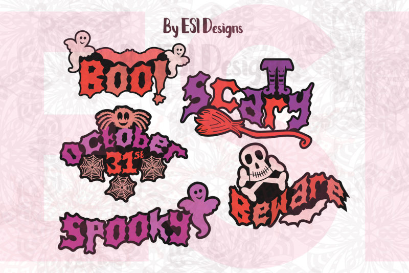Download Free Halloween Titles Cutting Files And Printable Svg Dxf Eps Png Crafter File
