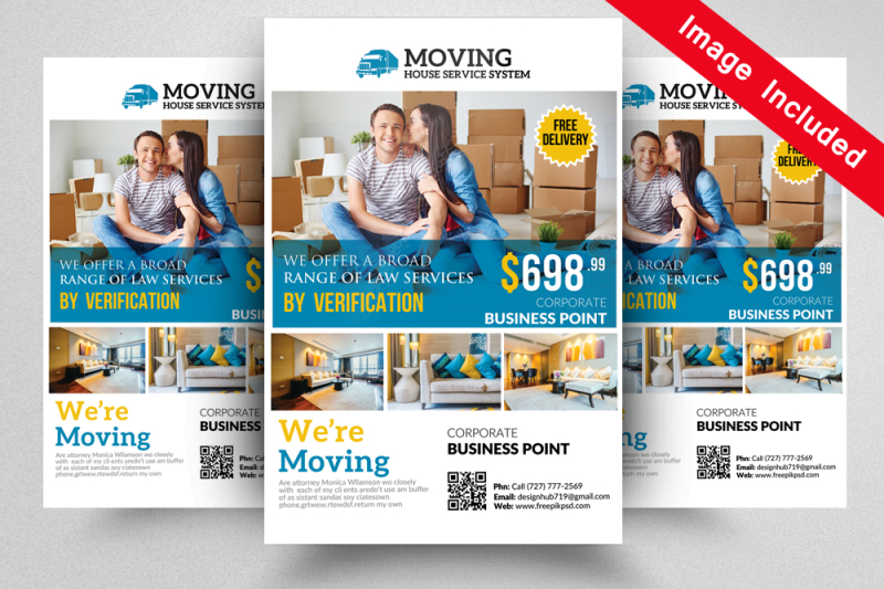 We Are Moving Flyer Template By Designhub Thehungryjpeg
