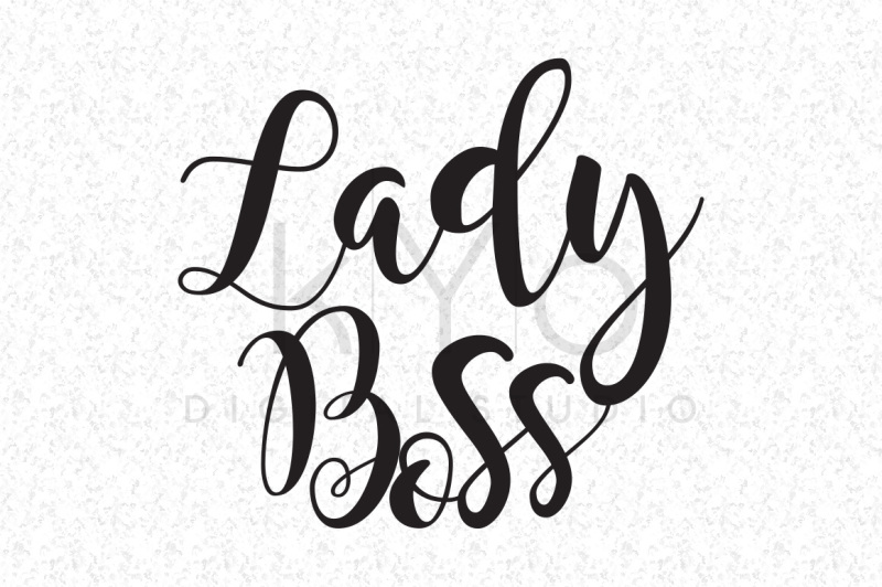 Free Lady Boss Lettering Quote Svg Dxf Png Eps Files Crafter