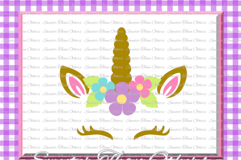 Unicorn Face Svg Unicorn Girl Unicorn Svg Girl Dxf Silhouette