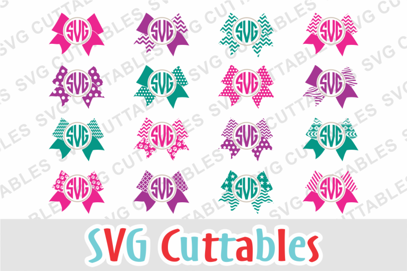 Free Cheer Bow Monogram Frames Crafter File Design Svg Graphics For Cricut Free Svg 2020