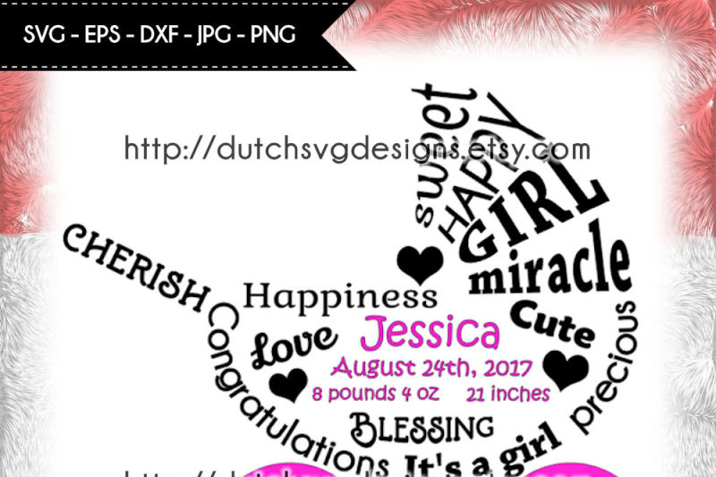 Free Baby Girl Cutting File In Pram Shape In Jpg Png Svg Eps Dxf Baby Girl Birth Announcement Baby Girl Svg Pram Cutting File Pram Svg Crafter File Best Svg Vectors