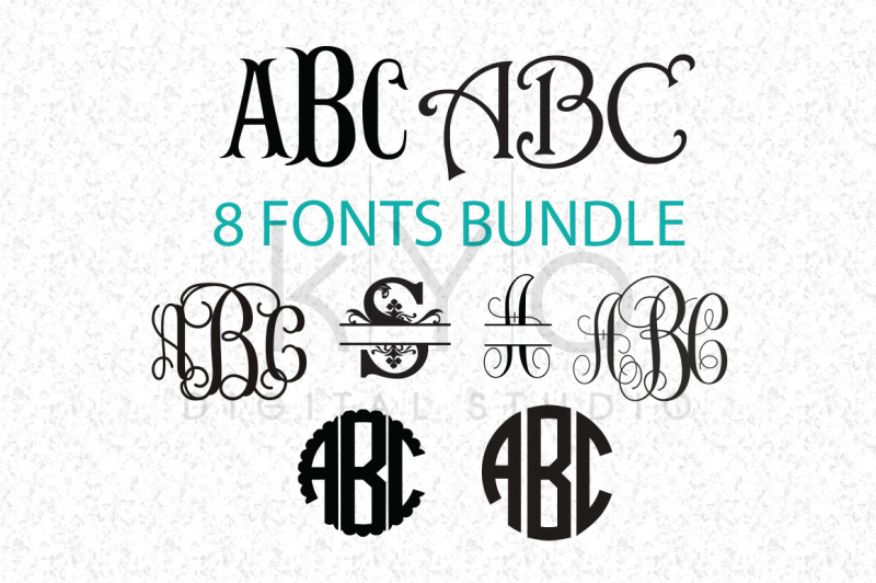 Free Cricut Fonts Bundle SVG (Not Typing), Monogram Letters SVG