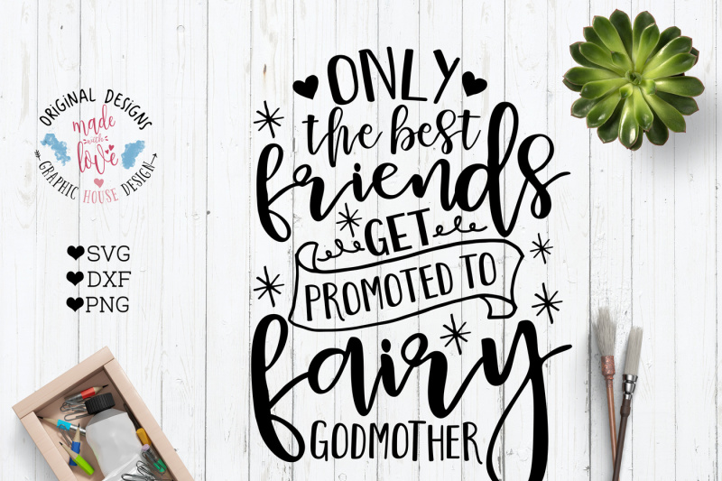 Free Only The Best Friends Get Promoted To Godmother Svg Free Antler Svg File