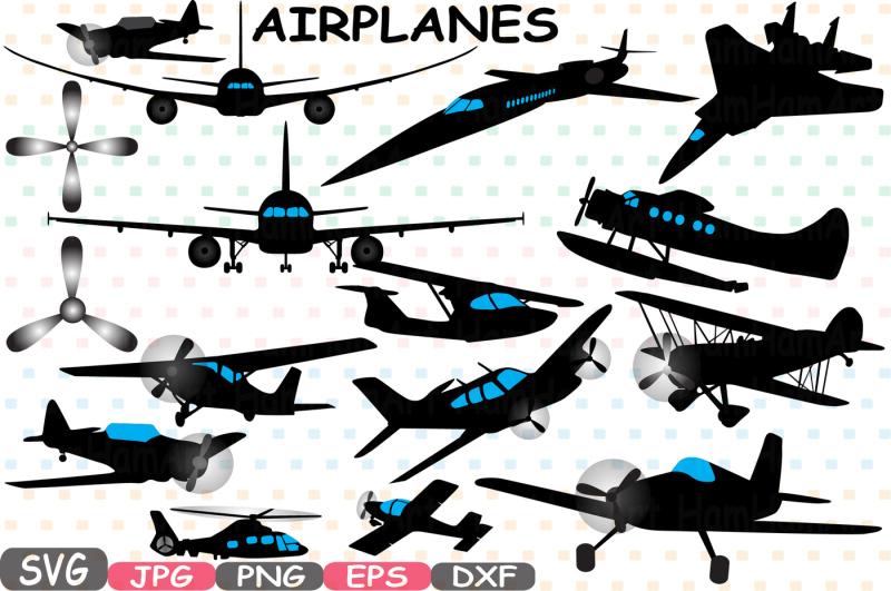 Airplane Silhouette Patriotic Cutting Files Planes
