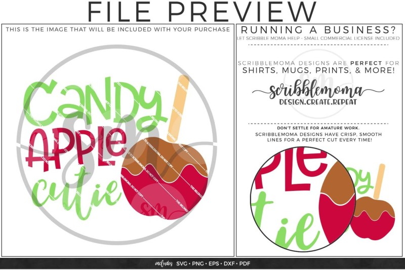 Candy Apple Cutie Svg By Scribblemoma Graphics Thehungryjpeg Com