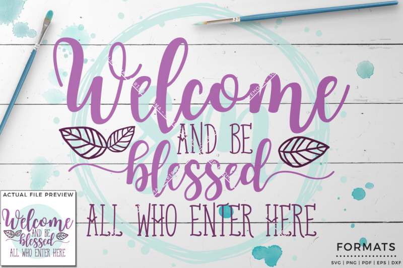 Download Free Welcome And Be Blessed Svg Small Commercial Use Svg & Instant Download Crafter File