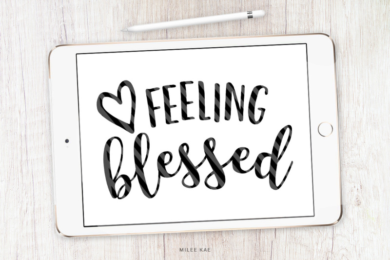 Free Feeling Blessed Cutting File Svg Png Eps Crafter File Vector Icons And Icon Packs For Free Download