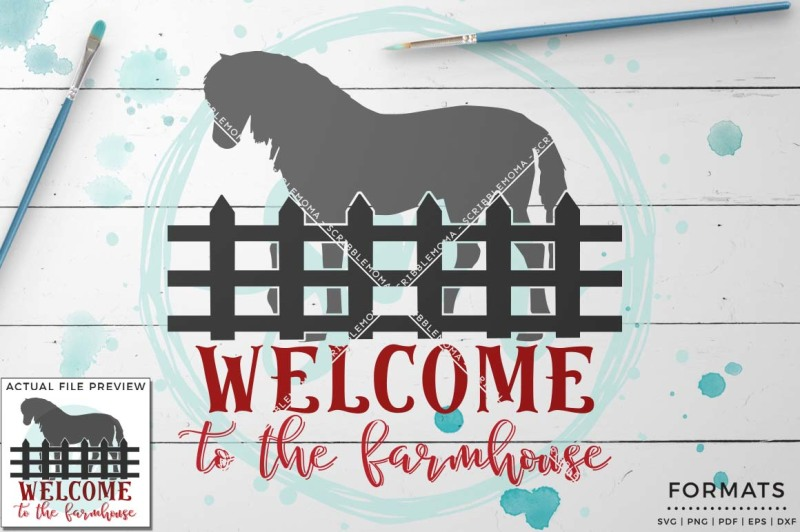Welcome To The Farmhouse Svg Small Commercial Use Svg Instant Download Scalable Vector Graphics Design Free Guitar Svg File
