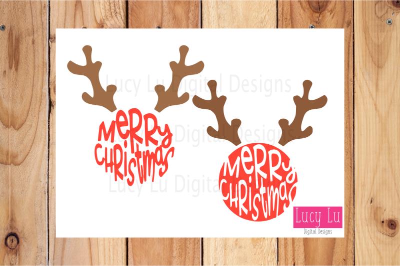 Merry Christmas Reindeer By Cheri Grimmitt Thehungryjpeg Com