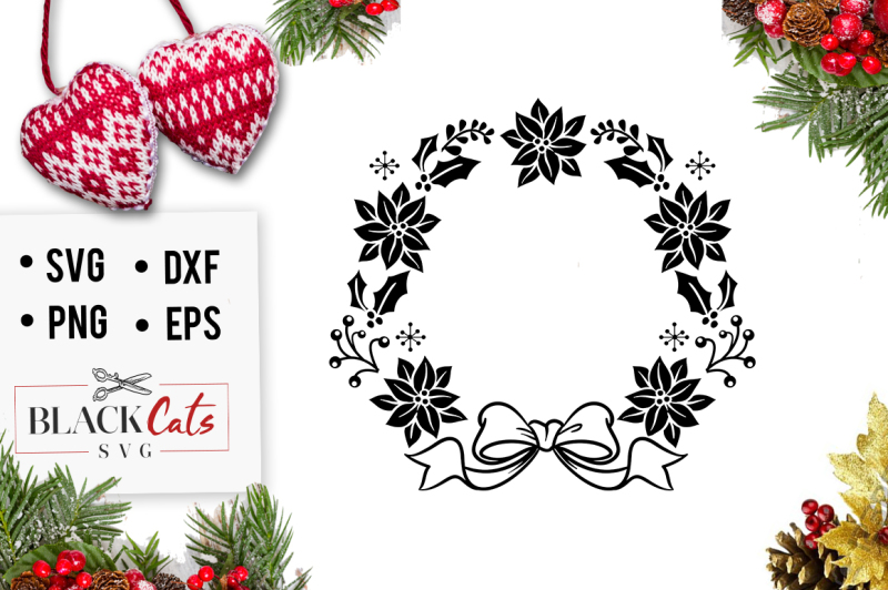 Christmas Wreath Silhouette Free.Free Christmas Wreath Svg Crafter File Download Free Svg