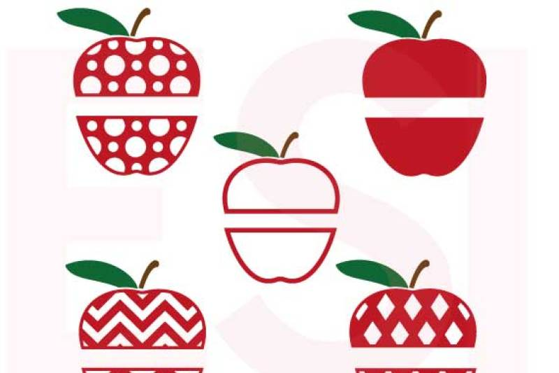 Free Apple Split Designs Set Teacher Svg Dxf Eps Crafter File Cut Files Cups And Mugs