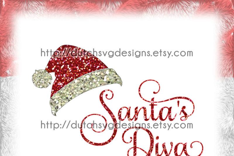 Get Santa's Little Diva Cutting File Image