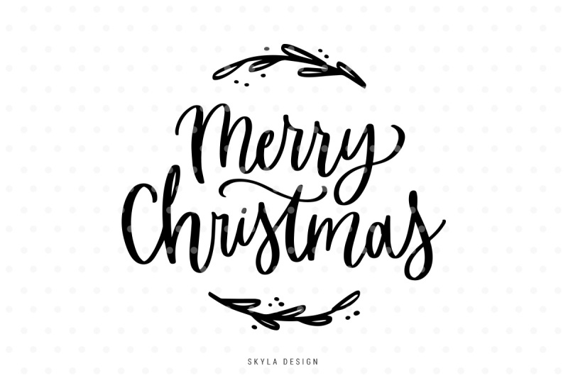 Merry Christmas SVG file Cricut svg Christmas SVG silhouette svg Hand Lettered SVG