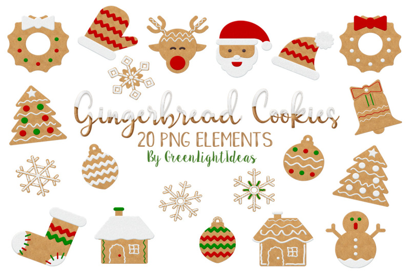 Christmas Gingerbread Cookies Clipart, Christmas Clipart ...