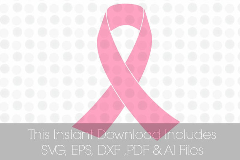 Breast Cancer Pink Ribbon Svg Vinyl Cutting File For Use In Silhouette Cameo Designer Edition Cricut Design Space By Trissha Taylor Creative Thehungryjpeg Com