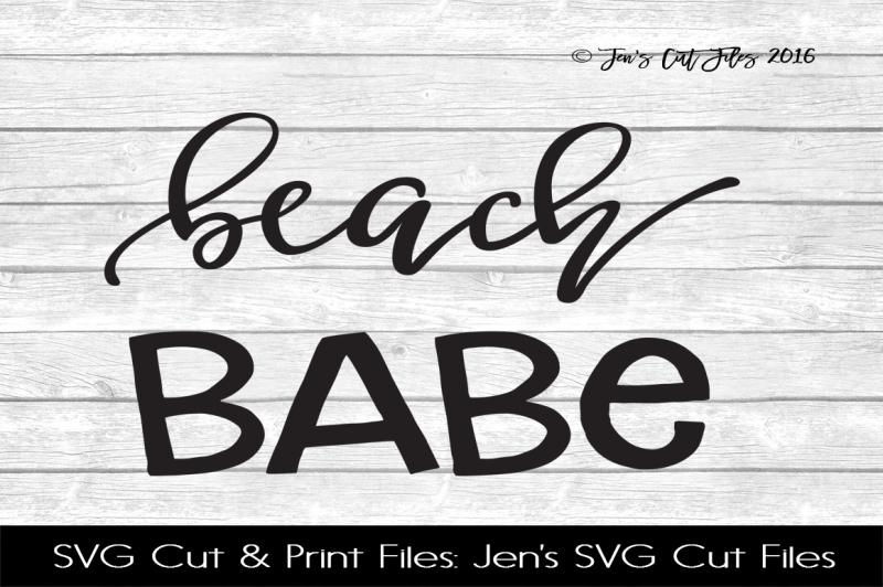 Beach Babe By Jens Svg Cut Files Thehungryjpeg Com