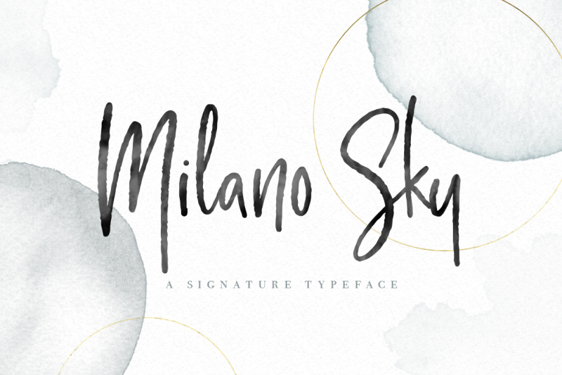 Milano Sky Signature Script Font Handwritten Font By By Lef