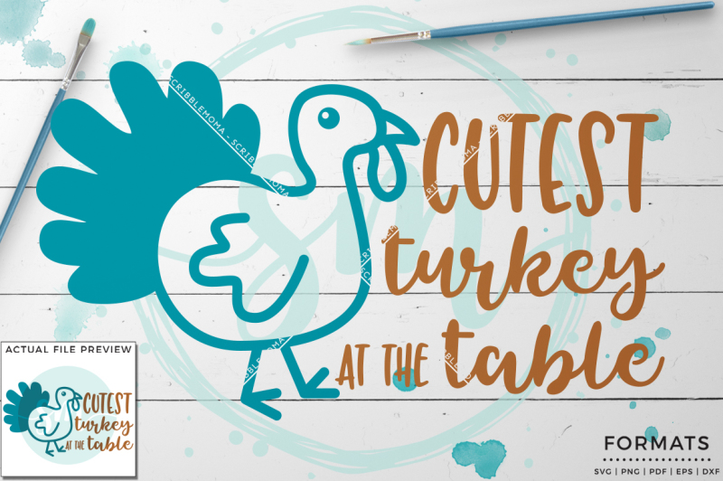 Cutest Turkey Svg Small Commercial Use Svg Instant Download All Free Svg Cut Files Cricut Silhouette