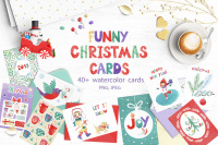 Funny Christmas Cards By Tanya Cherry Thehungryjpeg Com