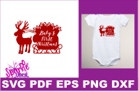 First Christmas Svg Dxf Eps Pdf Png Baby S First Christmas Svg Cut