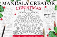 Coloringbook Mandala Creator Christmas Edition For Adobe