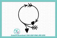 Valentines Day Monogram Svg File Valentine Monogram Svg Arrow