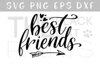 Best Friends Svg Dxf Png Eps By Theblackcatprints Thehungryjpeg Com
