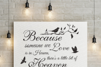 Because Someone We Love Is In Heaven Svg By Blackcatssvg Thehungryjpeg Com