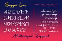 Bigger Love Clean Handwriting Font By Konstantine Studio