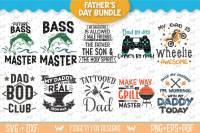 Fathers Day Svg Bundle Gamer Svg Fishing Svg Mechanic Svg