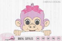 Girl Monkey Svg Monkey Svg Peekaboo Svg Girl Shirt Svg Funny