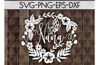 Nana Svg Cutting File Grandmother Papercut Dxf Eps Png By Mulia