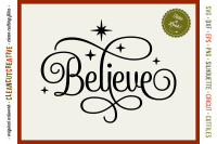 Believe In The Magic Christmas Design In Svg Dxf Eps Png By