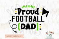 Proud Football Dad Shirt Design Svg Png Eps Dxf Pdf Formats By