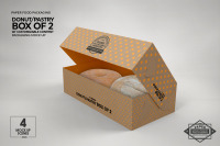 Download Two Wooden Boxes With Label Mockup Top View Yellowimages