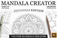 Zentangle Mandala Creator Addon for Illustrator By VectorNomad