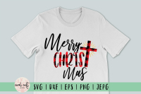 Merry Christ Mas Christmas Svg Eps Dxf Png By Coralcuts Thehungryjpeg Com