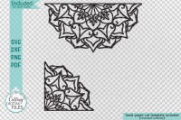 Mandala Set Corner Half Border Plotter Cut Svg Dxf Templates By