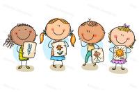Kids Presenting Their Drawings By Optimistic Kids Art