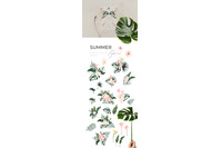 Summer Aesthetics Watercolor Essentials Clipart Collection