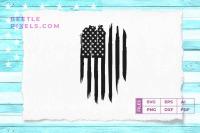 American Flag Distress Vertical By Cuttingsvg Thehungryjpeg Com