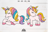 Cute Unicorn Svg Design By Agsdesign Thehungryjpeg Com