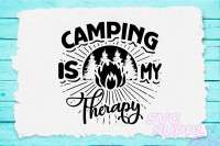 Camping Is My Happy Place Svg Design For Adventure Tshirt By