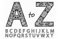 Mandala Alphabet Svg Mandala Letters Alphabet Clipart Cut Files
