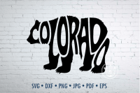 Colorado Bear Word Art Svg Dxf Eps Png Jpg Bear Shape By Prettydd