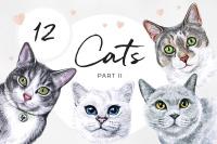Spunkey Cat Watercolor